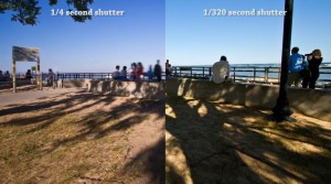 time-lapse dragging shutter example